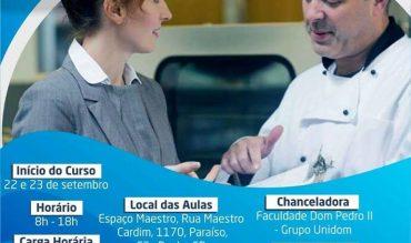 Curso de Gestão em Unidades Produtoras de Refeições e Alimentos (UPR´S) em SP!